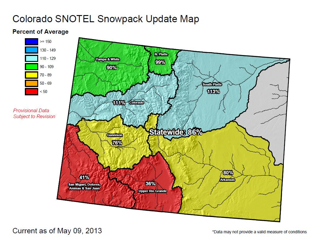 Colorado Snowpack Map Colorado Snowpack Improves   Skyview Weather