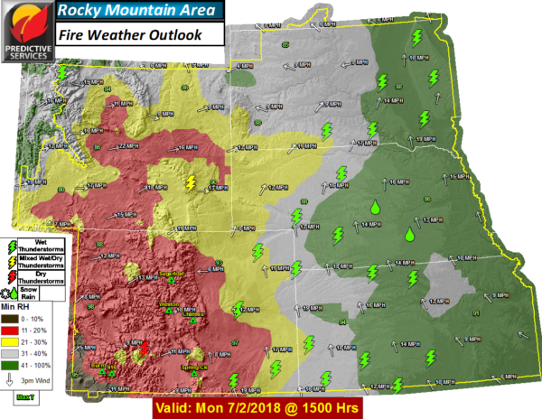Hot, dry weather continues to fuel wildfires in Colorado and