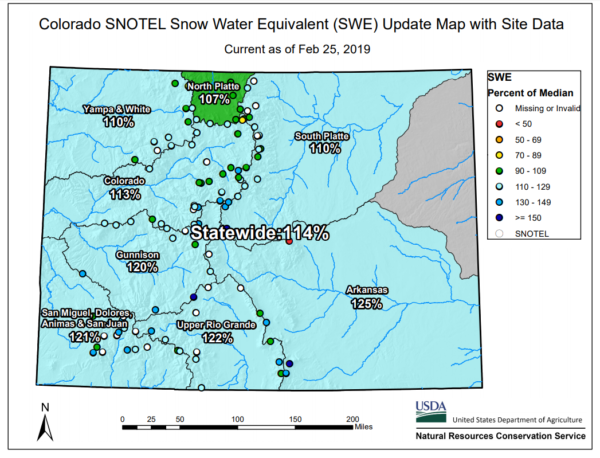 Colorado's Snow Pack Well Above Average - Skyview Weather on
